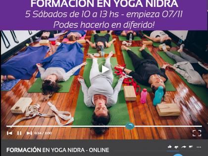 Formación  de Yoga Nidra