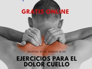 Clase Gratis Online para aliviar el dolor de cuello