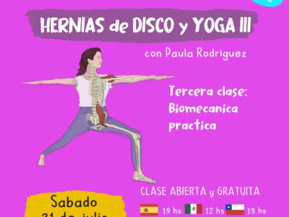 Clase abierta – Hernias de disco III